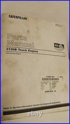 Caterpillar 3126B & 3126E Truck Engines Service Repair Manual 3 Volume Set