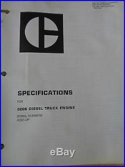 Caterpillar 3208 Diesel Truck Engine Service Manual 40S1-UP Printed 9/75