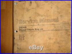 Caterpillar 3406B Diesel Truck Engine factory service & parts manuals OEM (2)