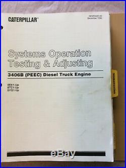 Caterpillar 3406B PEEC Engine service manual 2EK 5YG 8TC Cat Guide Repair Book