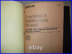 Caterpillar 416 426 436 Series I & II Backhoe Loader Shop Repair Service Manual