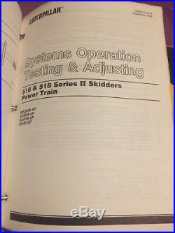 Caterpillar 518 518-II Skidder FB518 Buncher Service Manual 8ZC 50S 55U 94U 95U
