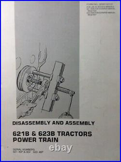 Caterpillar 621B 623B Tractor Scraper Earthmover Power Train Service Manual 45P
