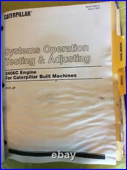 Caterpillar 623F TRACTOR SCRAPER SERVICE MANUAL 6BK 5SG testing & adjusting Book