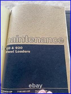 Caterpillar 920, 930 Wheel Loader Complete Service Repair Manual