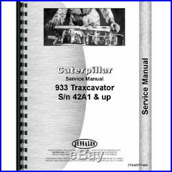 Caterpillar 933 Traxcavator Service Manual (SN# 42A1 and Up) CT-S-933TX 42A