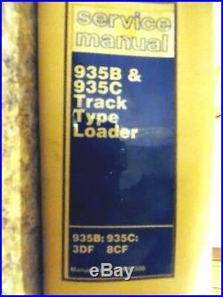 Caterpillar 935B & 935C Track Type Loader Shop Repair Service Manual #36 CAT