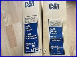 Caterpillar 938G Wheel Loader IT28G Toolcarrier factory service manual set OEM
