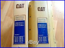 Caterpillar 966G 972G Series II Wheel Loaders factory service manual set OEM