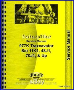 Caterpillar 977K Traxcavator Service Manual (CT-S-977KTX11K)