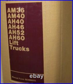 Caterpillar AM36 AM40 AH40 AH46 AH52 AH60 Forklift Repair Shop Service Manual am
