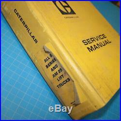 Caterpillar B SERIES AM25 Forklift service manual towmotor book repair CAT shop