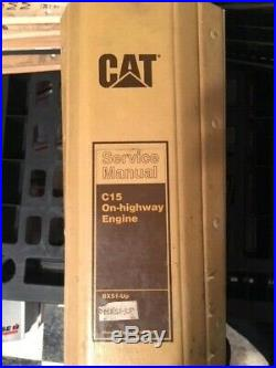 Caterpillar C15 On Highway Engine factory service manual C-15 BXS1 MSX1-UP OEM