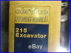 Caterpillar CAT 215 Excavator Repair Service Manual 14Z 43Z 57Y61Z