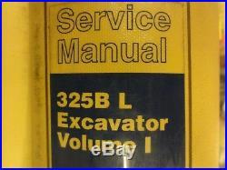 Caterpillar CAT 325B L Excavator Repair Service Manual 2JR Volume I & II