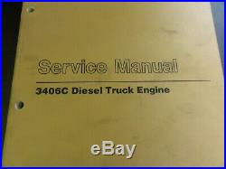 Caterpillar CAT 3406C Diesel Truck Engine Service Manual SEBR0560