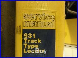 Caterpillar CAT 931 Track Type Loader Repair Service Manual 10N 78U