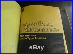 Caterpillar CAT 943 953 Track Type Loaders Repair Service Manual