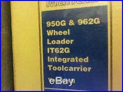 Caterpillar CAT 950G 962G Wheel Loader IT62G Toolcarrier Repair Service Manual