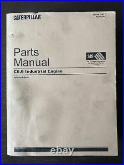 Caterpillar CAT C6.6 Engine Parts Manual Book Catalog Guide Shop Service OEM