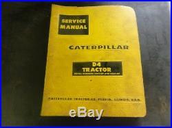 Caterpillar CAT D4 Tractor Service Manual 39A1-Up 40A1-Up