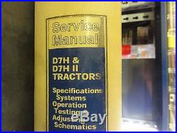 Caterpillar CAT D7H & D7H Series II Tractors Repair Service Manual Specification