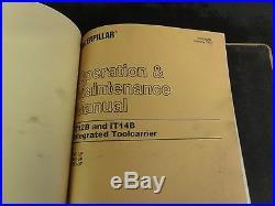 Caterpillar CAT IT12B Integrated Toolcarrier Repair Service Manual 1KF 9SF