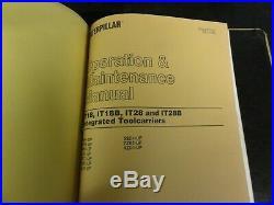 Caterpillar CAT IT28 & IT28B Integrated Toolcarrier Repair Service Manual