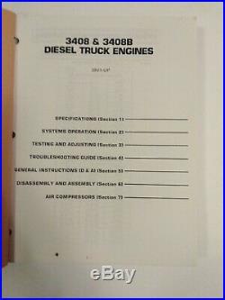 Caterpillar CAT Service Manual 3408 & 3408B Diesel Truck Engines 28V1 Up