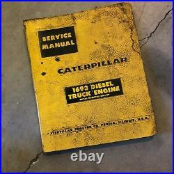 Caterpillar Cat 1693 Engine Service Manual S/n 65b