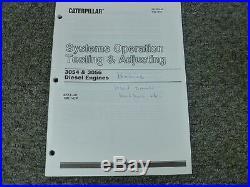 Caterpillar Cat 3054 3056 Diesel Engine Sys Op Testing Adjusting Service Manual