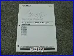 Caterpillar Cat 3114 3116 3126 MUI Engine Governors Shop Service Repair Manual