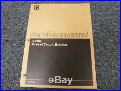 Caterpillar Cat 3208 Diesel Truck Engine Shop Service Repair Manual S/N 2Z1-Up