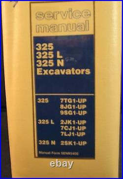 Caterpillar Cat 325, 325 L & 325 N Excavator Service Manual