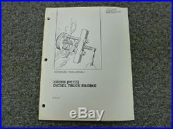 Caterpillar Cat 3406B PEEC Truck Engine Disassembly & Assembly Service Manual