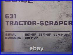 Caterpillar Cat 631 Scraper Tractor Service Manual Reg00403