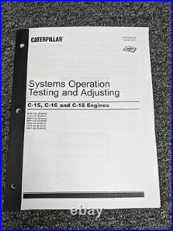 Caterpillar Cat C15 C16 C18 Engine Sys Op Testing Adjusting Service Manual 6NZ