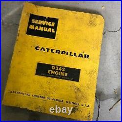 Caterpillar Cat D343 Engine Service Manual S/n 33b 62b 343 Industrail