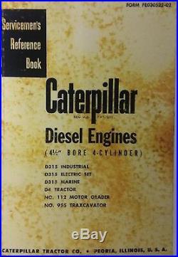 Caterpillar D315 D4 Tractor Marine Diesel Engines Service Manual Crawler CAT 955