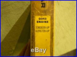 Caterpillar D343 Engine Service Manual Cat Book 33B 62B