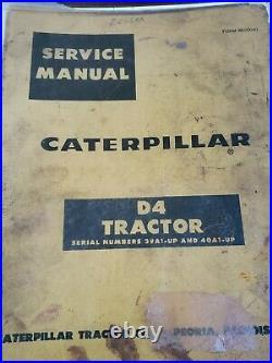 Caterpillar D4 Tractor Service Manual