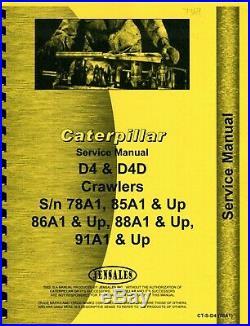 Caterpillar D4D 78A1,85A1,86A1,88A1,91A1 service manual (photocopy)