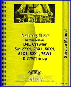 Caterpillar D4E Crawler Service Manual (CT-S-D4E 27X1+)