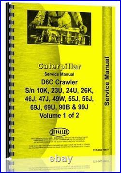Caterpillar D6C Crawler Service Manual (CT-S-D6C 10K1+)
