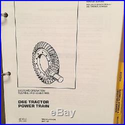 Caterpillar D6E Tractor Service Parts Manual Set SM 2MJ1-2653 PM 2MJ1158-Up