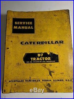 Caterpillar D7 Tractor Service Repair Manual Book 47A3396 48A6393 & up CAT