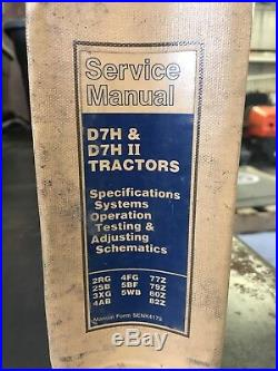 Caterpillar D7H Tractor Service Manual