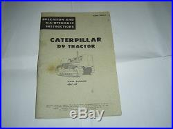 Caterpillar D9 D 9 tractor operation and maintenance instruction service manual