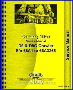 Caterpillar D9 D9G Crawler Service Manual (SN# 66A1-66A3265)(CT-S-D9 CRWLR)