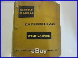 Caterpillar Specifications Book Service Shop Repair Manual BINDER CAT USED OEM